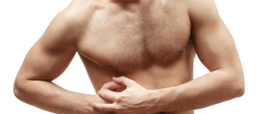 تصویر درد در ناحیه کبد و روده